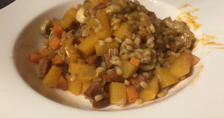 Chorizo, Root Vegetable & Barley Risotto