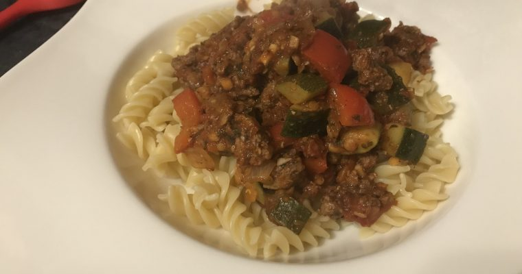 Simple Pasta Bolognese