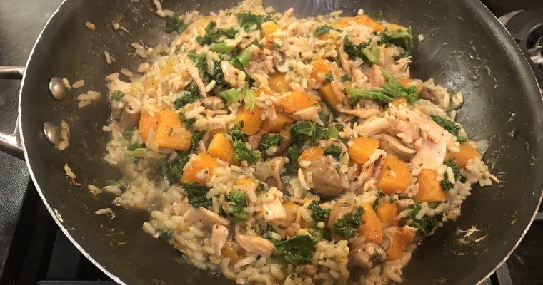 Mushroom, Kale & Squash Risotto