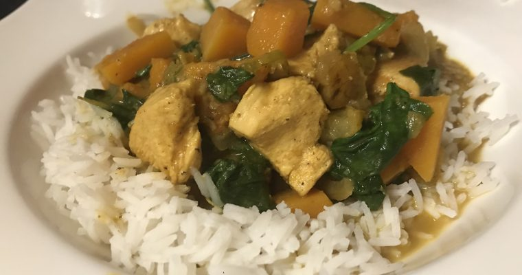 Chicken, Pear & Butternut Korma