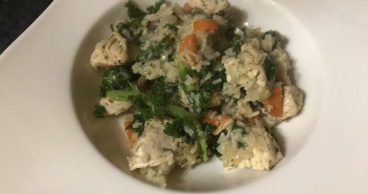 Chicken, Mushroom & Kale Pilaf