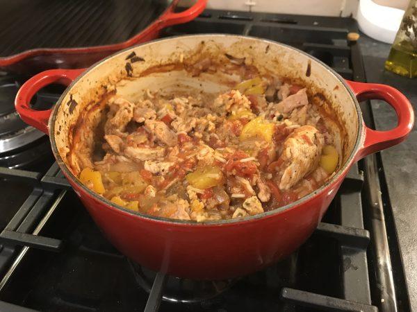 Italian chicken and bacon rice bake