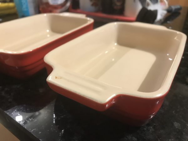 2 ovenproof dishes