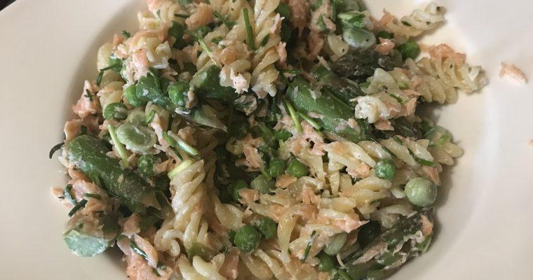 Smoked Salmon Pasta Primavera
