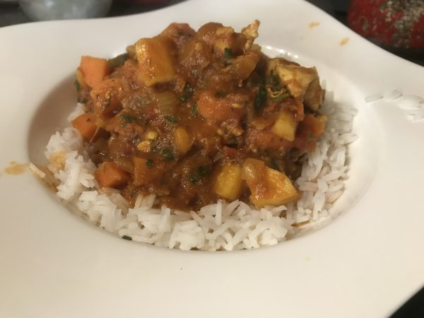 Chicken, parsnip and carrot curry