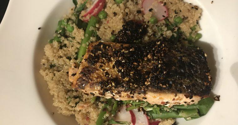 Miso Salmon & Tenderstem Quinoa Salad