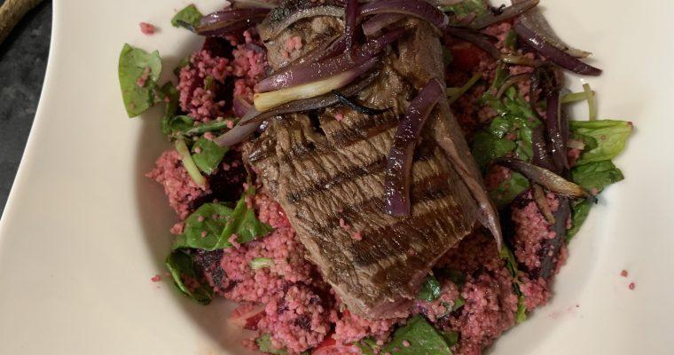 Beef, Beetroot & Radish Salad