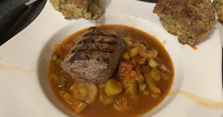 Caponata With Steak