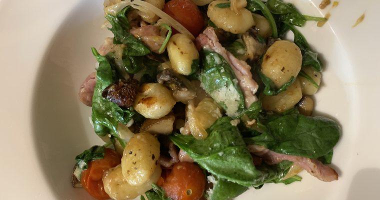 Roast Bacon, Mushroom & Spinach Gnocchi