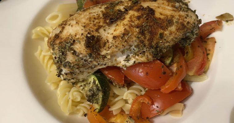 Roast Chicken & Vegetable Pasta