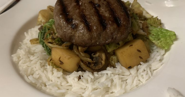 Stir-Fried Turnip, Cabbage & Mushrooms