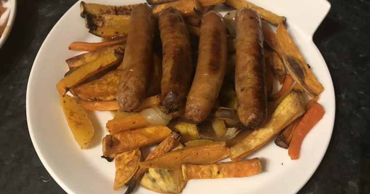 Healthy Sausage & Chips