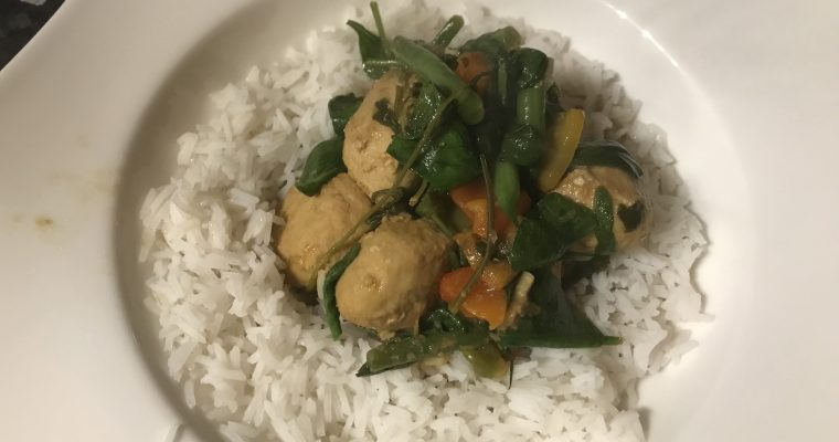 Thai Green Turkey Meatball Curry