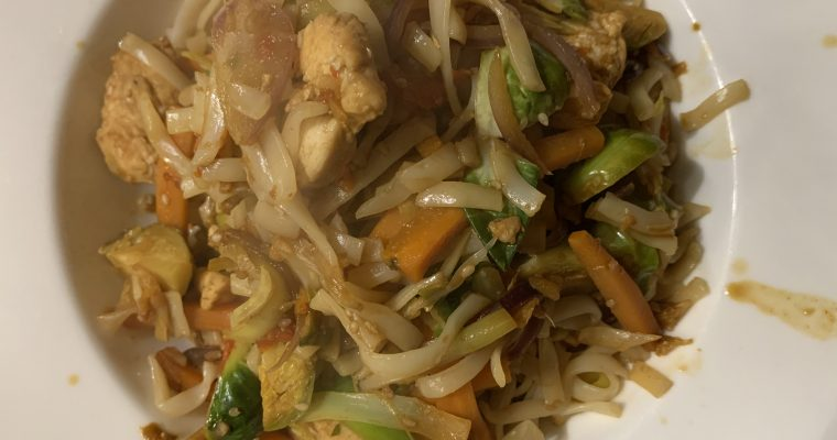 Carrot, Leek & Sprout Stir-Fry