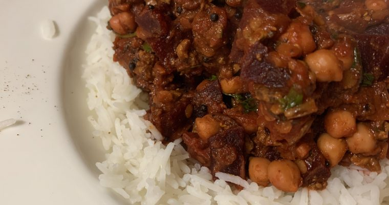 Turkey, Beetroot & Chickpea Keema