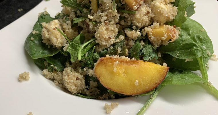 Cheese, Peach & Quinoa Salad