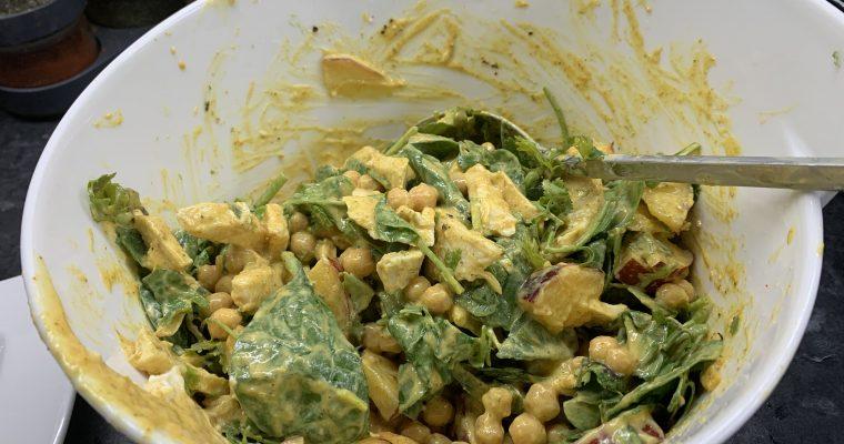 Curried Chicken & Nectarine Salad