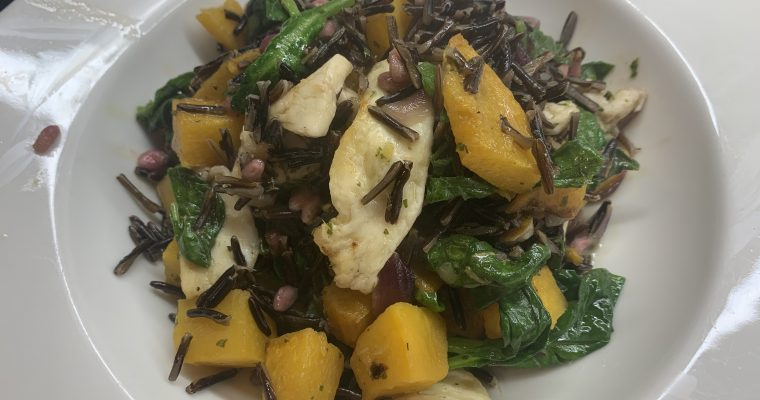 Halloumi, Pumpkin & Wild Rice Salad